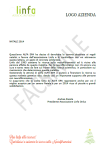 Facsimile lettera di Auguri