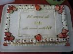 La torta per i 20 anni di Linfa onlus