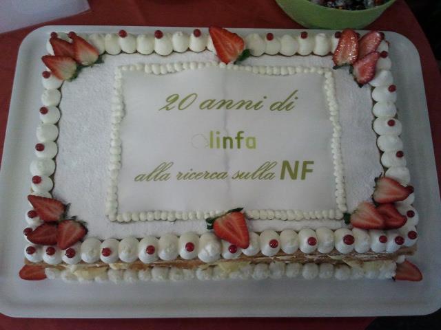 Torta celebrazione 20 anni di Linfa onlus