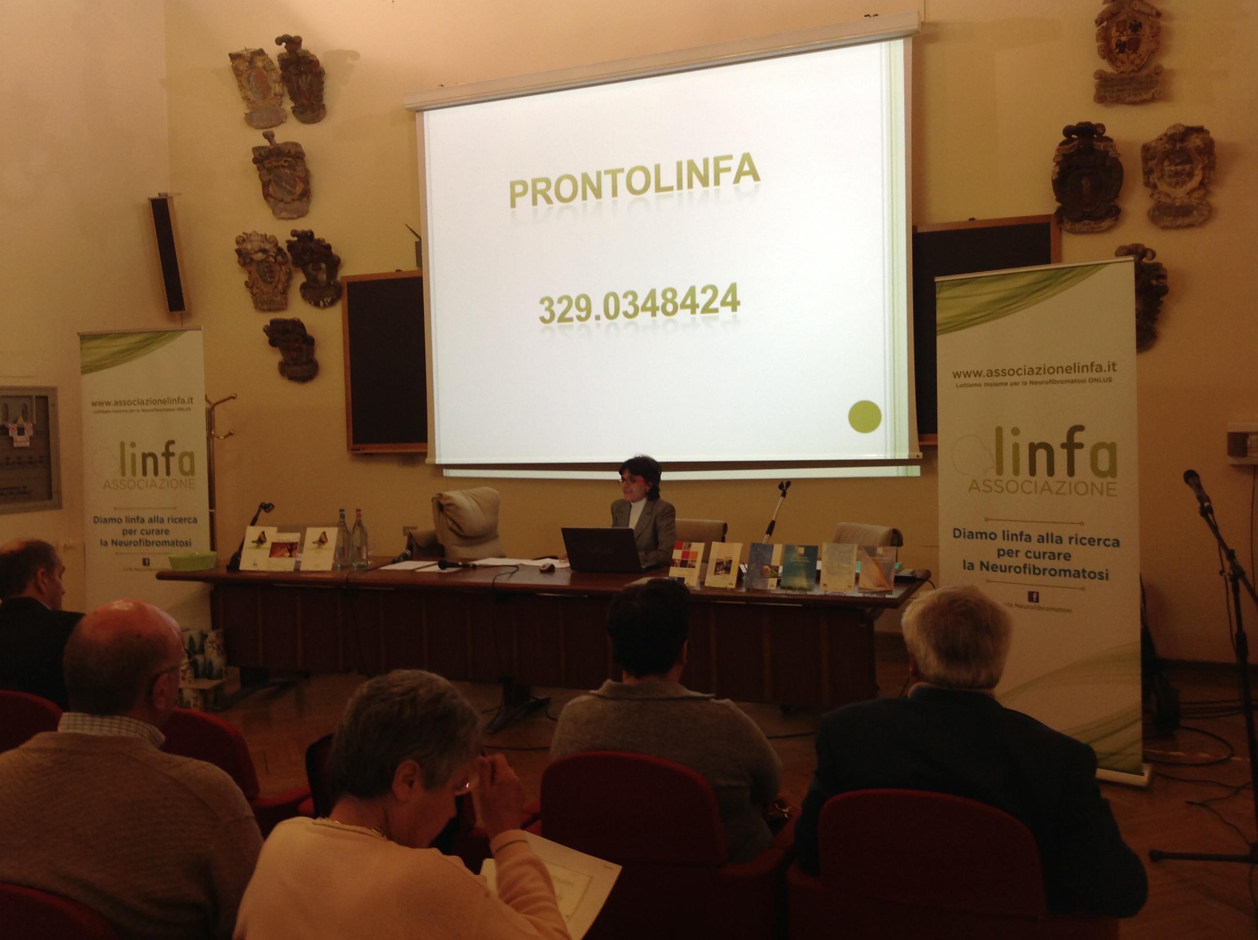 Elana Raffagnato durante la sua relazione all'assemblea dei soci Linfa