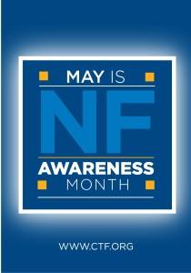 Il logo del Maggio Mese internazionale delle Neurofibromatosi della Children's Tumor Fundation